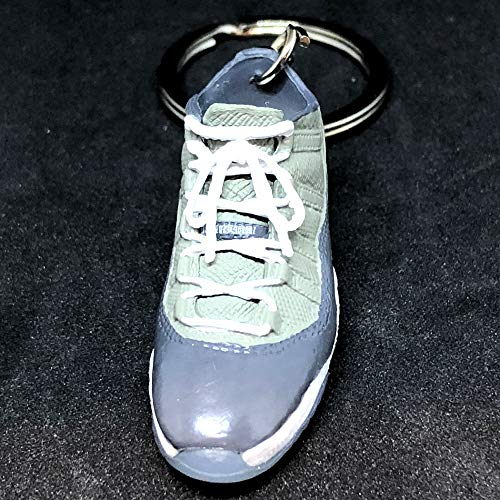 cf1c1f5785ff2b Amazon.com   Pair Air Jordan XI 11 Retro Low Cool Grey OG Sneakers Shoes 3D  Keychain 1 6 Figure   Everything Else