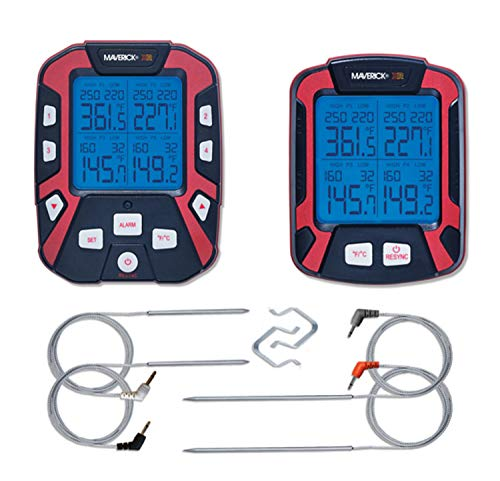 Adrenaline Barbecue Company Maverick XR-50 Extended Range Digital Remote Wireless 4 Probe BBQ & Meat Thermometer
