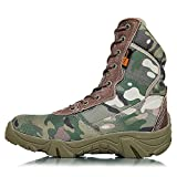 Dopievel Men's Tac Force Waterproof Military Tactical Duty Work Boot With Zipper Outdoor Hiking Boots (10 B(M)US, Camouflage Green)