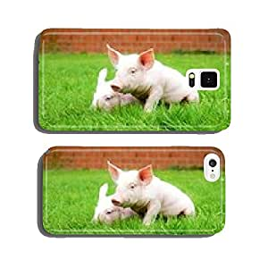 Two piglets in the grass cell phone cover case iPhone5