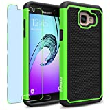 Samsung Galaxy A5 (2016) / A510F Case, INNOVAA Smart Grid Defender Armor Case (Not Compatible with Samsung Galaxy A5 (2015)) W/ Free Screen Protector & Touch Screen Stylus Pen - Black/Green