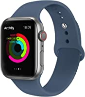 AdMaster Sport Band for Apple Watch 44mm 40mm 42mm 38mm, Soft Silicone Strap Replacement iWatch Bands for Apple Watch...