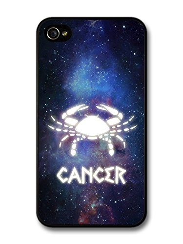 Cool Starsign in Space With Cancer Design Illuminated Symbol case for iPhone 4 4S