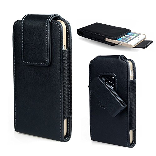 Faux Leather Vertical Swivel Belt Clip Holster Pouch Case for Samsung Galaxy S9 Active/Motorola One Power/iPhone XR/iPhone Xs Max/Huawei Mate 20 Lite/Huawei Mate SE/Huawei Honor 8X
