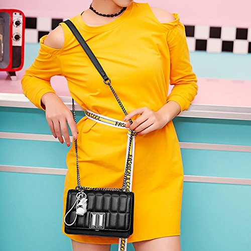 Fashion Messenger Shoulder And Chain Package Spring New Square Handbags Summer Trend Korean Black XIAOLONGY Bag Small Wpw0zTq81