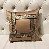 ZUOANCHEN Cushion Simple and Modern Small Clean Pillow Embroidery Cotton and Linen Sofa Living Room Head Office Cushion with Pillow4545CM (Color : Coffee)