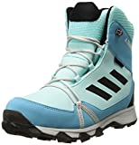 adidas Outdoor Unisex-Kids Terrex Snow CP CW K Hiking Shoe, Clear Aqua/Black/Vapour Blue, 5.5 Child US Big Kid