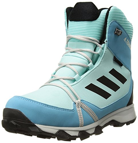 adidas Outdoor Unisex-Kids Terrex Snow CP CW K Hiking Shoe, Clear Aqua/Black/Vapour Blue, 5.5 Child US Big Kid by adidas outdoor