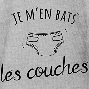 Spreadshirt Je Men Bats Les Couches B/éb/é Body B/éb/é Bio Manches Courtes