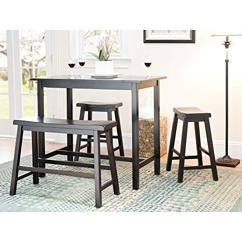 4-Piece Counter-Height Bench and Stool Pub Set - 24