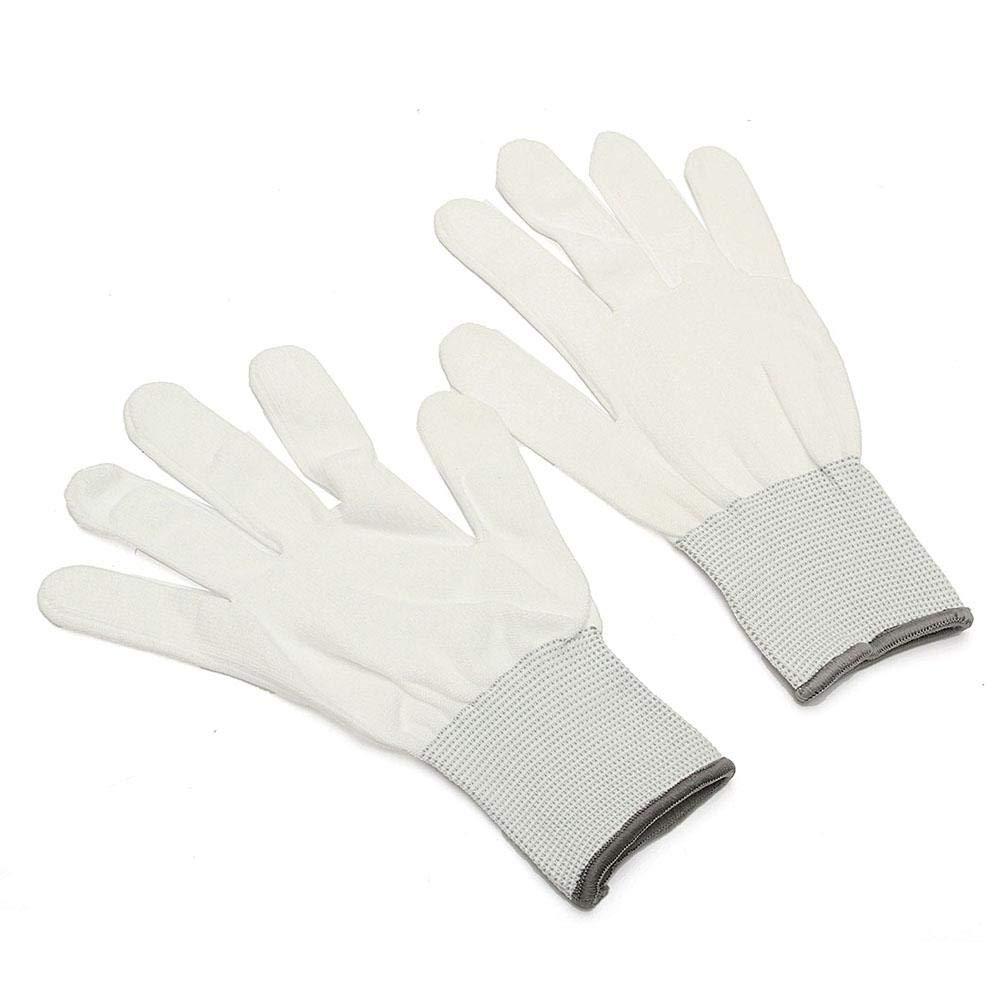 Househome Baumwoll Handschuhe, Handschuhe, 6 Paar In Weiß, 100% Baumwolle, Ohne Noppen, Kochfest, Keine Fingerabdrücke Mehr Bei Der Reinigung Ihrer Technik, Weiß 6 Paar In Weiß Weiß