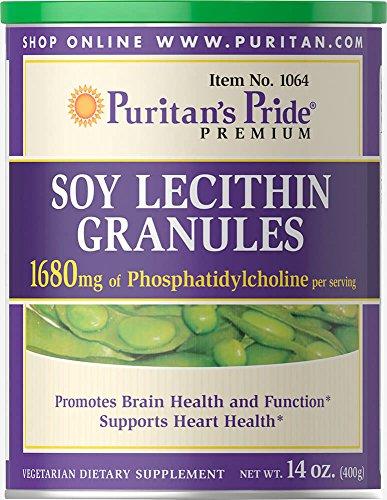- Puritan's Pride Soy Lecithin Granules 1680 mg-14 oz Granules