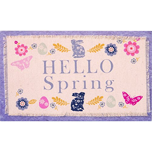 Carpentree Hello Spring Hanging Plaque - Wall Plaques