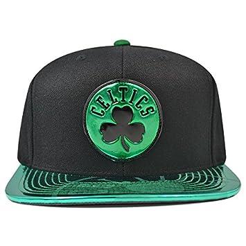 8d28a66151e71 Amazon.com   Mitchell   Ness Boston Celtics Team Standard Snapback NBA  Adjustable Hat - Black