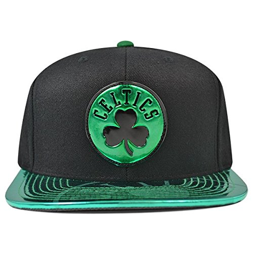 Mitchell & Ness Boston Celtics TEAM STANDARD Snapback NBA Adjustable Hat - Black, Green