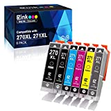 E-Z Ink (TM) Compatible Ink Cartridge Replacement for Canon PGI-270XL CLI-271XL PGI 270 to use with PIXMA TS9020 TS8020 MG7720 (1 Large Black, 1 Small Black, 1 Cyan, 1 Magenta, 1 Yellow, 1 Gray)6 Pack
