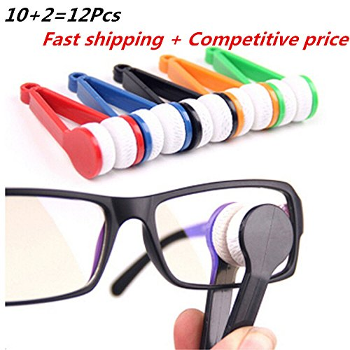 10 Pcs Mini Sun Glasses Eyeglass Microfiber Spectacles Cleaner Soft Brush Cleaning Tool Mini Microfiber Glasses Eyeglasses Cleaner Cleaning Clip (Random - Spectacle Soft Cases