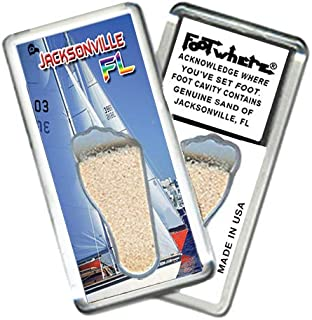 "product image for Jacksonville""FootWhere"" Souvenir Fridge Magnet. Made in USA (JX203 - Regatta)"
