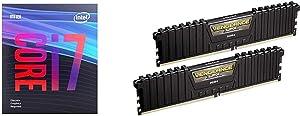 Intel Core i7-9700F Desktop Processor 8 Core Up to 4.7 GHz Without Processor Graphics LGA1151 300 Series 65W & Corsair Vengeance LPX 16GB (2x8GB) DDR4 DRAM 3000MHz C15 Desktop Memory Kit - Black