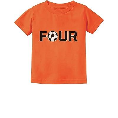 Tstars 4th Birthday Gift For Four Year Old Soccer Toddler Kids T Shirt
