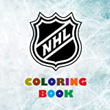 NHL Coloring Book: Super book containing every team logo from the NHL for you to color in - Original birthday present / gift idea.