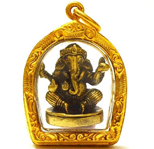 Load Ganeh Ganesha Elephant God Hidu Thai Mini Amulet Success Win All Obstacle ()