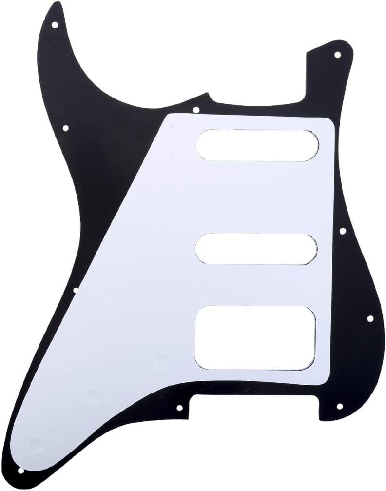 3 capas Crema Musiclily Pro 11 Agujeros Round Corner HSS Guitar Strat Pickguard Golpeador para Estados Unidos//Mexicana Stratocaster 3 Tornillos para Pastilla del Humbucker