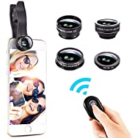Cell Phone Camera Lens, 5 in 1 HD Lens Kit, 0.6X Wide...