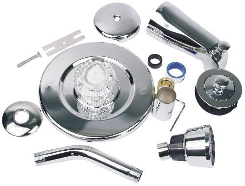 Replacement Moen Chateau S/L Tub & Shower Trim Kit PVD Satin Nickel (SK0236 B)