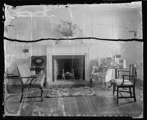 Photo: Owings Mills,fireplaces,seating,Baltimore,MD,Maryland,Architecture,South,1933