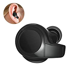 Essoy Wireless Bluetooth Earbud,Stereo Bluetooth Headphones with Microphone,Sports Workout Noise Cancelling in-Ear Earphone Car Headset for Cell Phones (Single earpiece)