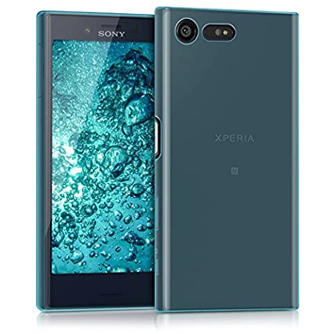 kwmobile Flexible super-slim case for Sony Xperia X Compact in blue (Cell Phones Cases Sony Xperia)