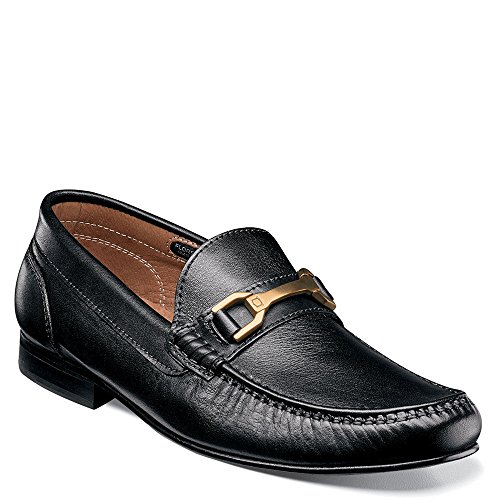Slip Men's Grain Full Bit Florsheim Boca Black on Loafer Penny Leather Cgtqtw47