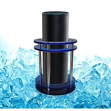 [Alexa 's Best Friend ] Little Artisan - Acrylic Speaker Guard For Amazon Echo speaker, UE Boom speaker- Clear Blue Color