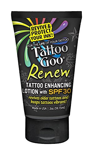Tattoo Goo Renew Enhancing Lotion SPF 30, 2 Ounce