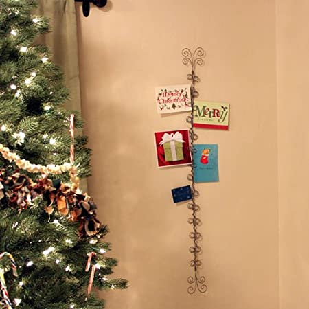 amazoncom 4 foot wire christmas card and photo holder home kitchen - Christmas Card Tree Holder