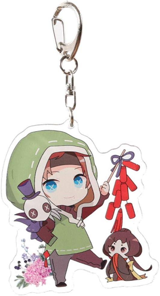 Anime Kawaii Schl/üsselbund f/ür Rucksack Tiffley Time Identity V Schl/üsselanh/änger Schl/üssel und M/äppchen Style 02