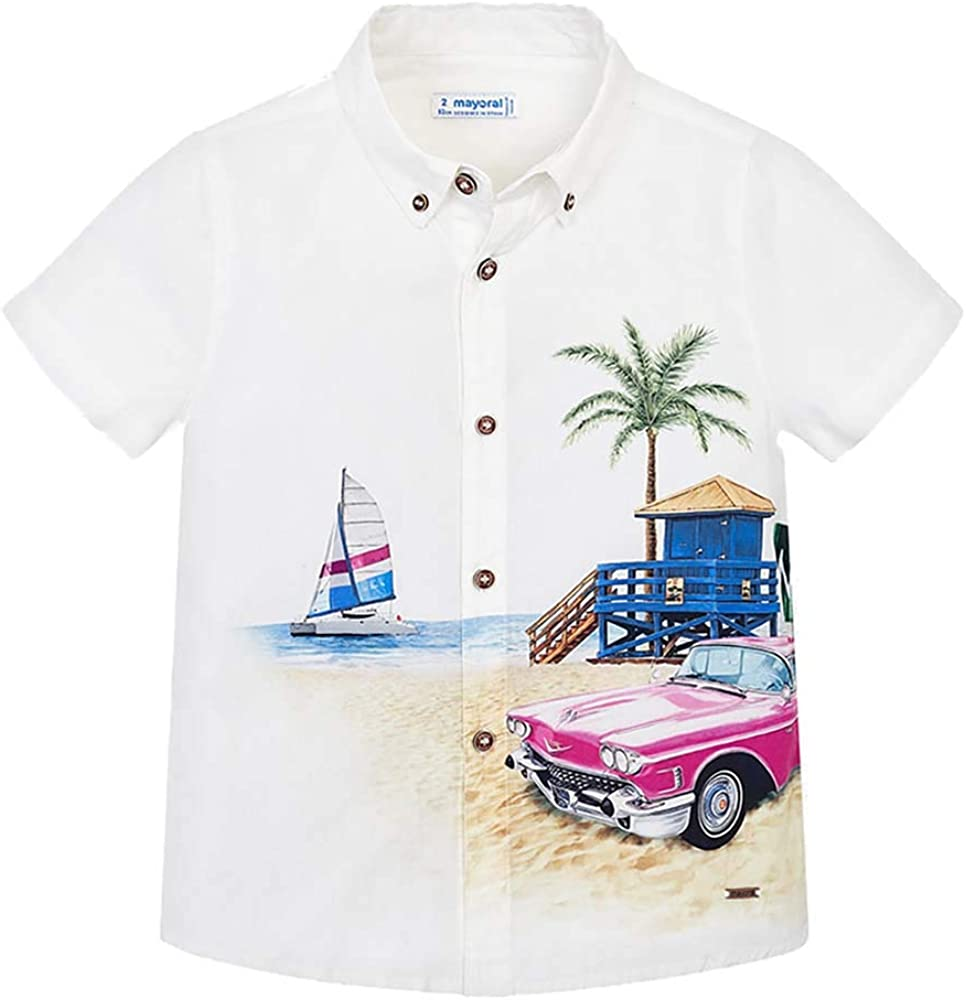 Mayoral Beach Summer Vacation Short Sleeve Shirt 51SDE3O2BzQL