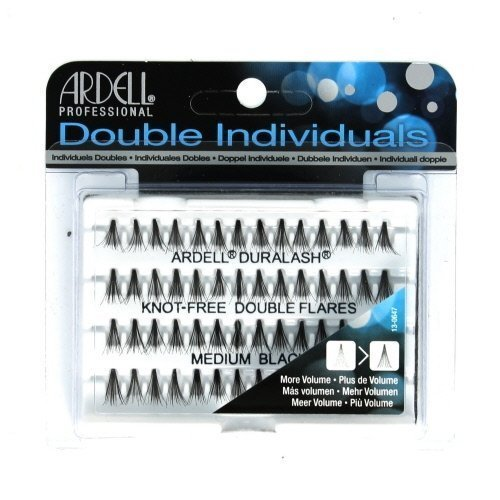 (6 Pack) ARDELL Professional Double Individuals Knot-Free Double Flares - Medium Black