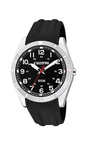 Calypso Watches Reloj Analógico para Unisex Adultos de Cuarzo con Correa en Plástico K5763/2: Amazon.es: Relojes