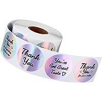 VOSAREA 1 Rol Bedankje Rolstickers Zakelijk Bedanketiketten Stickers Decoratieve Holografische Sluitstickers Voor…