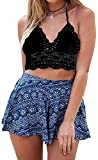 Tribear Womens Sexy Summer Crochet Lace Crop Tops Bikini Bra
