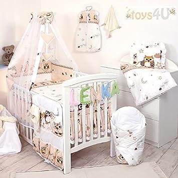 Bett 140x70cm Babybettwäsche Set 135x100cm Nestchen Himmel Bettbezug f 10 tlg
