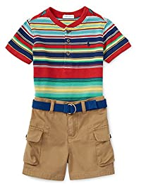 Ralph Lauren Baby Boys Cotton Shirt and Cargo Short Set