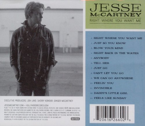 Right Where You Want Me: Best Buy Exclusive by Jesse McCartney