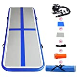 Baleauty Air Track Mat Air Track Inflatable Tumbling Mat Gymnastics Tumbling Mat Air Tracks for Tumbling Mat Gymnastics Air Floor for Home Use/Training/Cheerleading W Electric Air Pump