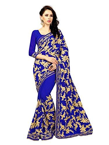 Li Te Ra Blue Goergette Aari Embroidered - Li Te