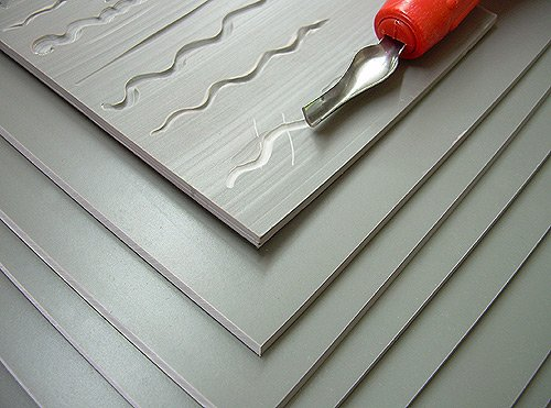 Unmounted Easy-to-Cut Linoleum 8 in. x 10 in.