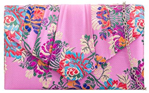 Girly Handbags - Cartera de mano de Material Sintético para mujer Rosa