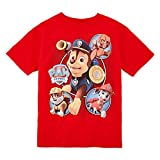 Paw Patrol Little Boys' Chase, Zuma, Rubble, and Marshall Tee, Red (5/6)